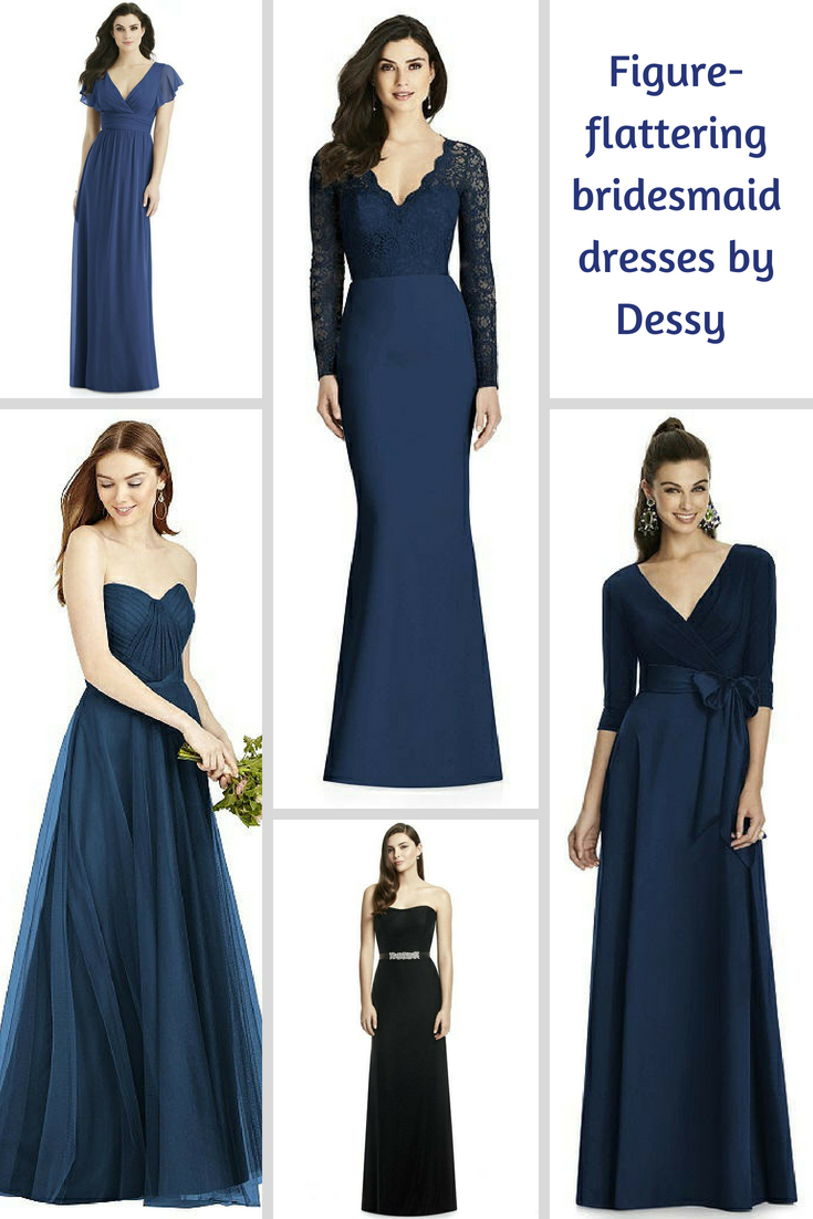figure flattering bridesmaid dresses